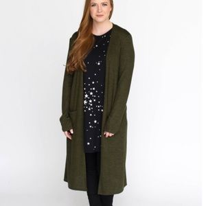 Agnes & Dora NEW Olive Green Duster Sweater XS/S